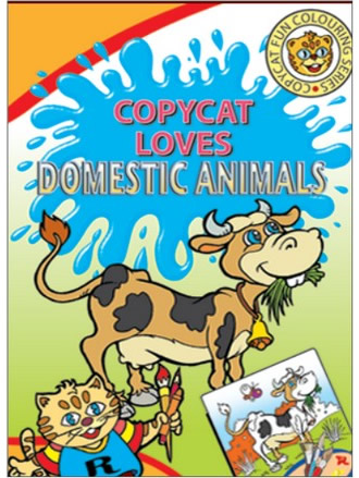 COPY CAT LOVES DOMESTIC ANIMALS